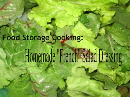 """Homemade """"French"""" Salad Dressing"""
