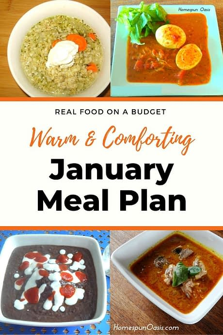January Meal Plan
