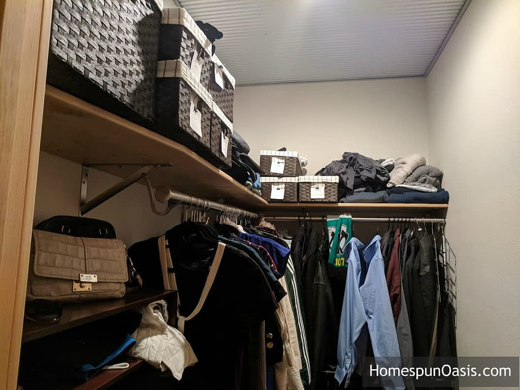 Setting Up House with Movement in Mind Pt. 1 | vertical storage. | HomespunOasis.com