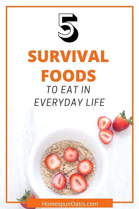5 Survival Foods for Everyday