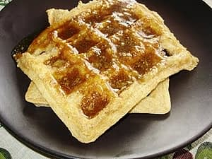 Waffles with Homemade Buttermilk Syrup