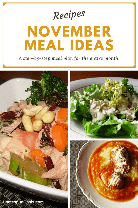 November Meal Ideas