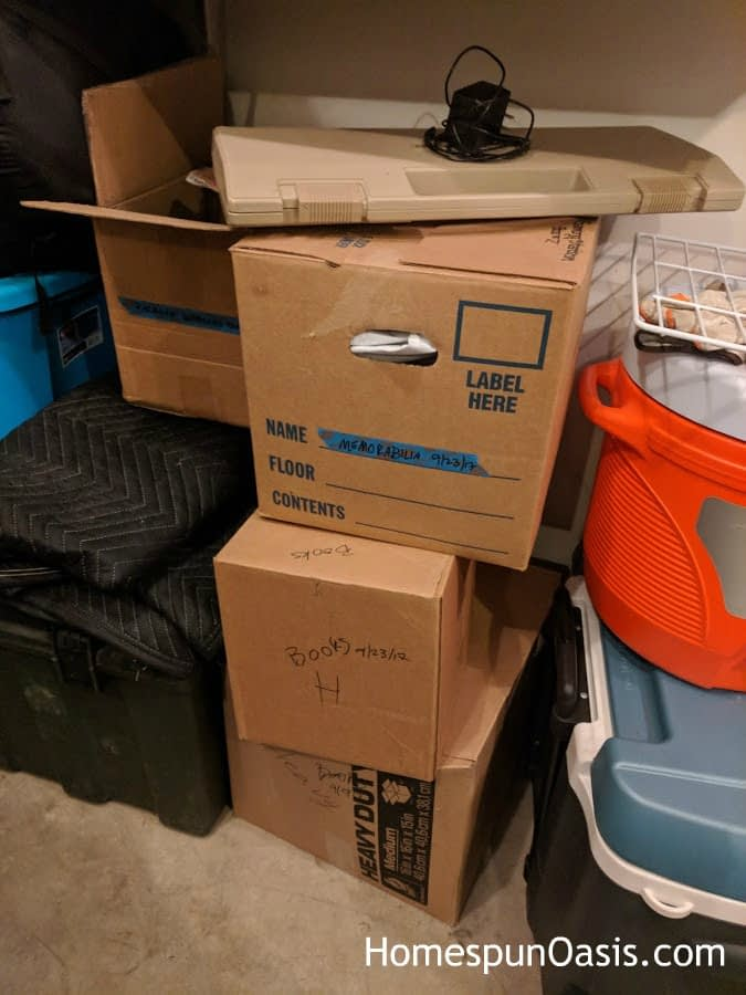 Setting Up House with Movement in Mind Pt. 1 | Unpack everything you can. | HomespunOasis.com