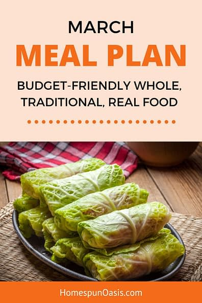 March Meal Plan Ideas
