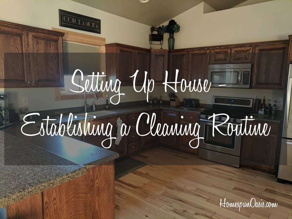 By establishing a bite-sized cleaning routine! ~HomespunOasis.com