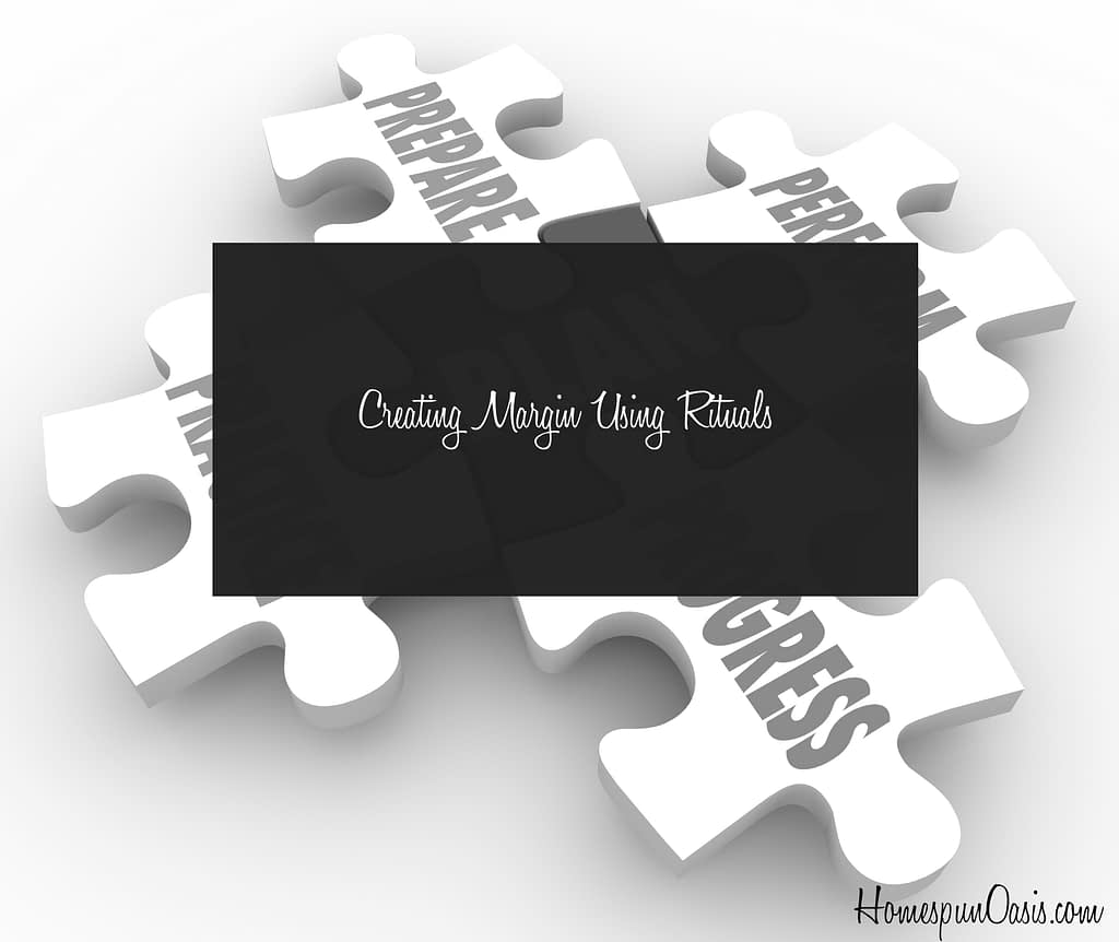 Stuck on something? Try planning around it with a ritual. ~HomespunOasis.com