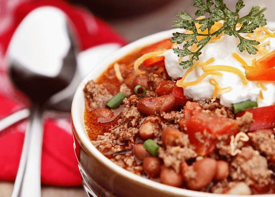 October Meal Plan Ideas: Take off the Chill with Chili!