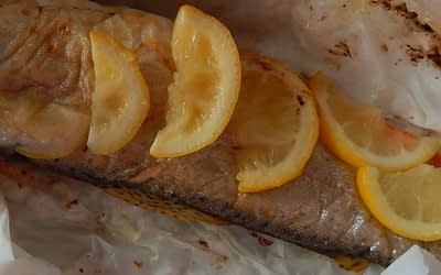 Trout Grilled in Parchment