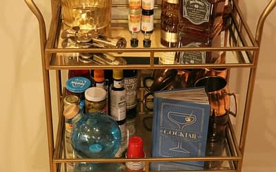 Setting up a Bar Cart