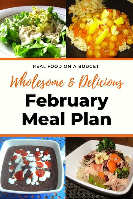 February Meal Plan Ideas