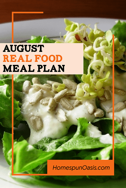 August Meal Plan Ideas