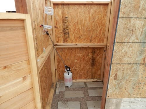 Our Outdoor Shower and Solar Water Heater